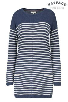 Fat Face Navy Suzie Swing Longline Jumper