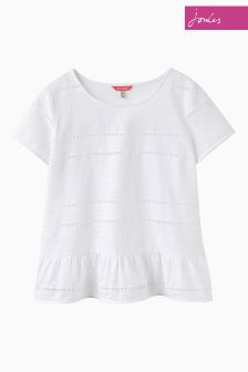 Joules Bright White Primrose Top