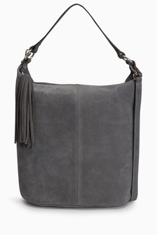 Suede Bucket Bag
