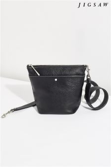 Jigsaw Black Mini Cameron Hobo Bag