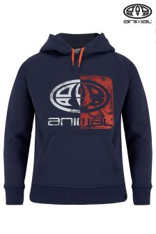 Animal Blue Overhead Hoody