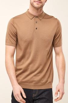 Short Sleeve Merino Polo