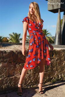 Phase Eight Red/Blues Idella Tulip Print Dress