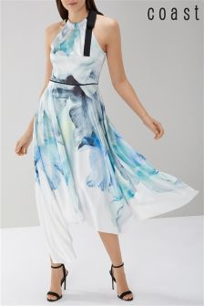Coast Blue Mace Print Soft Maxi Dress