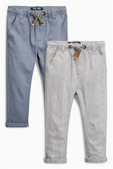 Linen Blend Trousers Two Pack (3mths-6yrs)