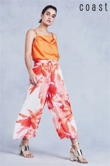 Coast Orange Tansia Printed Culotte