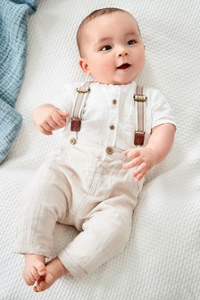Shirt, Braces And Trousers Set (0mths-2yrs)