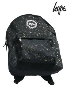 Hype. Black And Gold Glitter Backpack