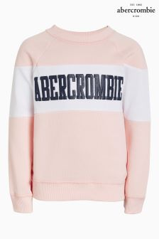 Abercrombie & Fitch Light Pink Logo Crew