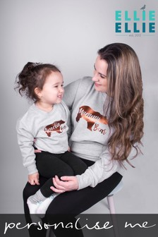 Personalised Mummy Bear and Baby Bear Sweatshirt Set by Ellie Ellie