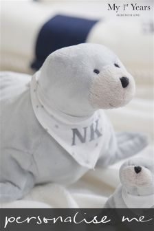 Personalised Seal Soft Toy By My 1st Years