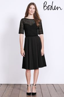 Boden Black Lisa Ponte Dress