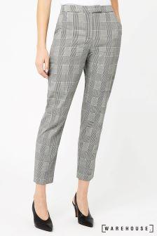 Warehouse Black/White Mono Check Trouser