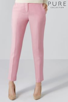 Pure Collection Pink Tailored Ankle Length Trouser