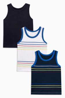 Vests Three Pack (3mths-6yrs)