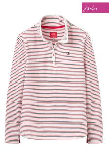 Joules Red Print Half Zip Sweatshirt