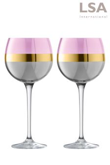 Set of 2 LSA International Bangle Balloon Glasses