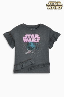 Star Wars™ Ruffle Short Sleeve T-Shirt (3-16yrs)