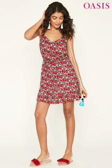 Oasis Pink Aymee Floral Dress