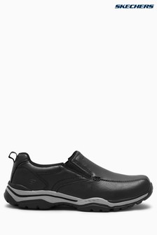 Skechers® Black Rovato Slip-On With Air Cooled Memory Foam