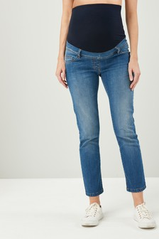 Maternity Cropped Jeans
