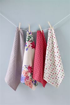 Set of 4 Summer Berries Tea Towels