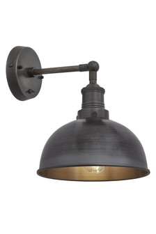 Industville Brooklyn Dark Pewter Wall Light