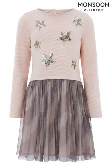 Monsoon Pale Pink Starlight 2-In-1 Dress