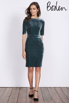 Boden Ink Pot Velvet Martha Dress