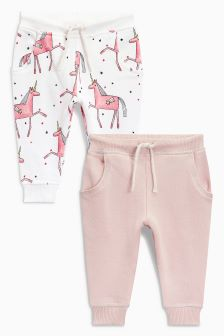 Unicorn Joggers Two Pack (3mths-6yrs)