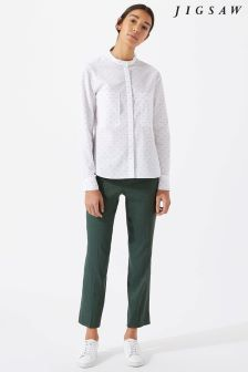 Jigsaw Green Portofino Trouser