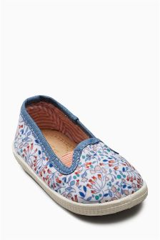 Ditsy Print Slip-On Crawlers (Younger Girls)