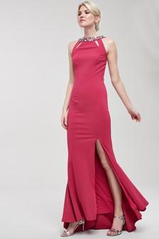 Embellished Back Detail Prom Dress