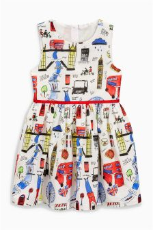 London Print Prom Dress (3-14yrs)