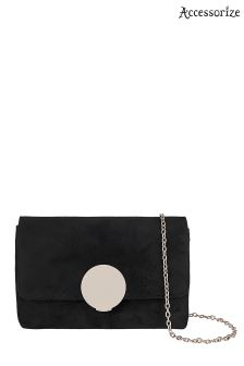 Accessorize Black Circle Lock Across Body Bag
