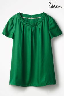 Boden Sap Green Carey Top
