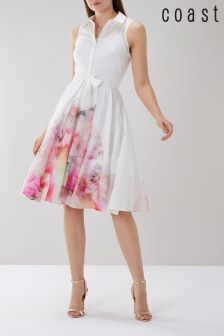 Coast White Vivian Printed Cotton Voile Dress