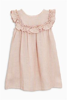 Stripe Frill Dress (3mths-6yrs)
