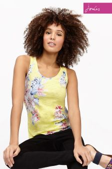 Joules Yellow Whitstable Bo Print Vest
