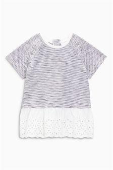 Broderie Detail T-Shirt (0mths-2yrs)