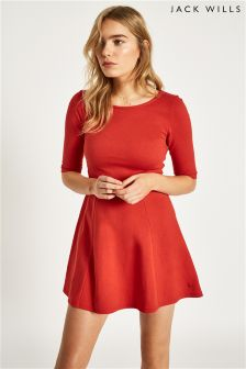 Jack Wills Red Tenderton Jersey Skater Dress
