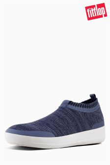 FitFlop™ Indian Blue/Powder Blue Uberknit™ Slip-On Sneaker