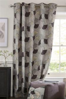 Ginko Leaf Eyelet Curtains