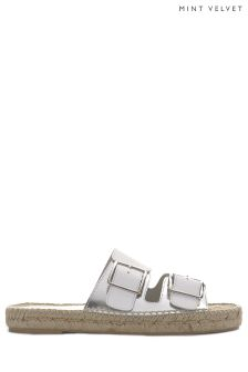 Mint Velvet AVA Leather Buckle Sandal PINOX