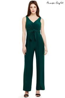 Phase Eight Green Angie Tie Jumpsuit