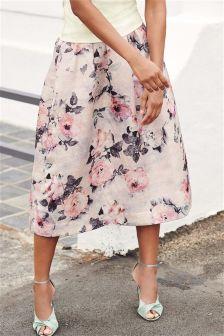 Printed Jacquard Skirt