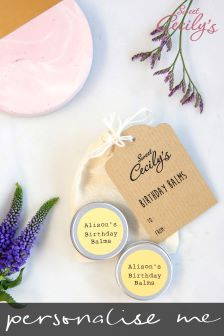 Personalised Happy Birthday Lip Balm Duo Gift Set By Sweet Cecilys