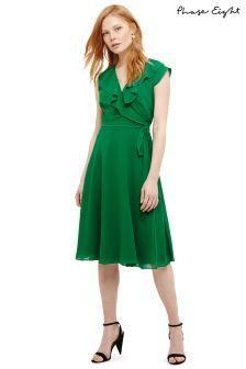 Phase Eight Green Emerald Allegra Wrap Dress