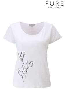 Pure Collection White Relaxed Cotton T-Shirt