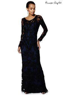 Phase Eight Black/Midnight Aubree Tapework Dress